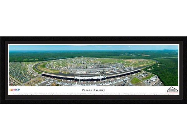 NASCAR Pocono Raceway by Christopher Gjevre Framed Photographic Print by Blakeway Worldwide Panoramas, Inc