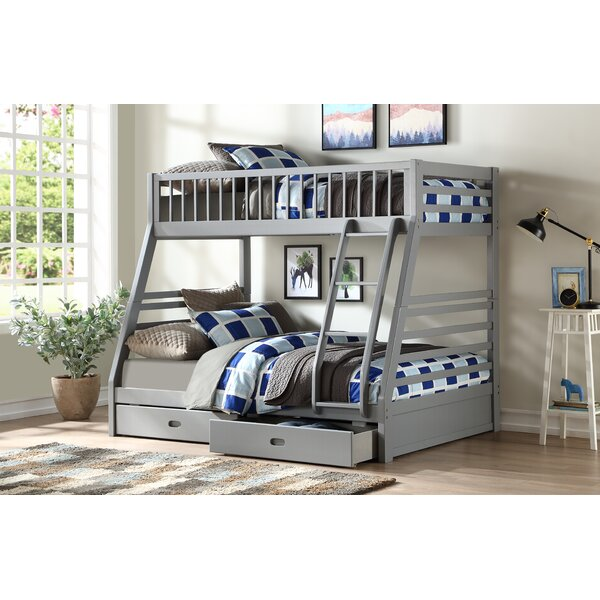 Roseanne Twin Over Full Bunk Bed with Drawers by Harriet Bee