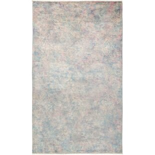 Clearance One-of-a-Kind Stewart Hand Knotted Wool Gray Area Rug By Isabelline