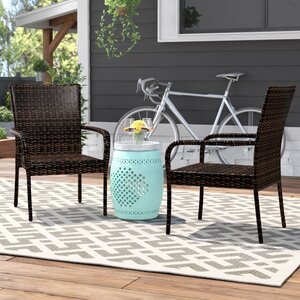 Hawes Outdoor Wicker Patio Chair (Set of 2)