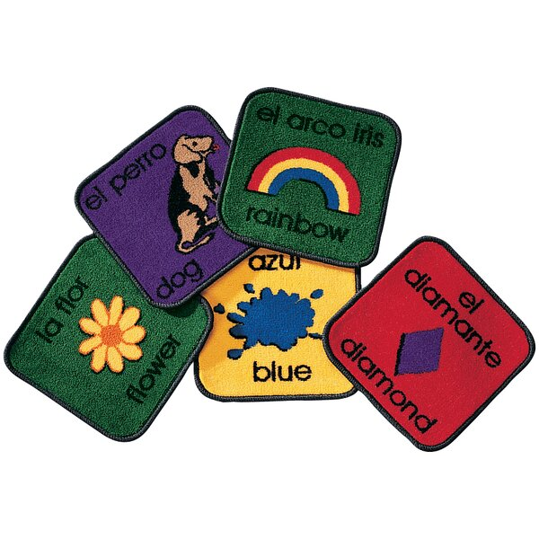 Carpet Kits Printed Bilingual Tile Area Rug by Carpets for Kids