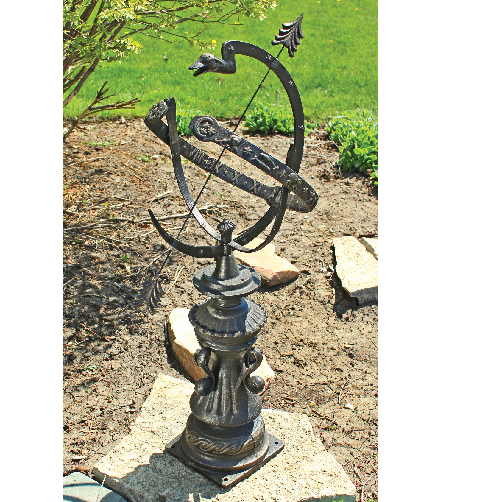 Bon Design Toscano Hyde Park Authentic Armillary Sphere Garden Statue U0026 Reviews  | Wayfair