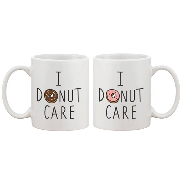 I Donut Care Ceramic Coffee Mug by 365 Printing Inc