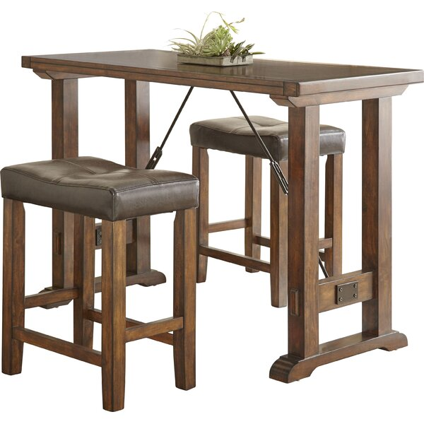 Adams Northwest 3 Piece Counter Height Dining Set by Alcott Hill