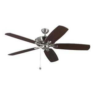 Check Prices 11.5 Garron 5 Blade Ceiling Fan with Remote By Breakwater Bay