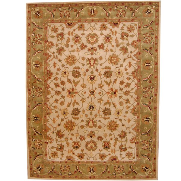 Ivory/ Green Area Rug by Herat Oriental