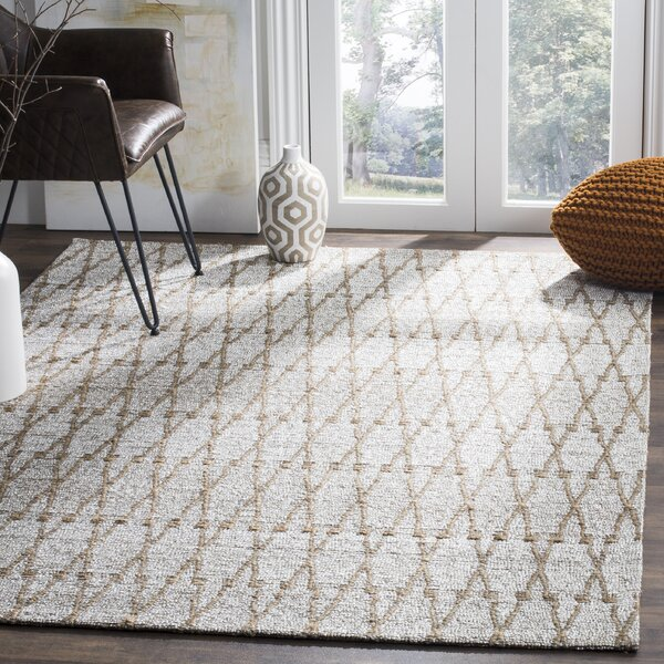 Min Hand Woven Gray Area Rug by Gracie Oaks