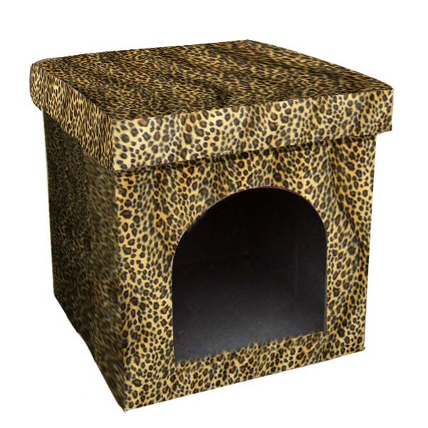 Mardell Collapsible Leopard Dog House by ORE Furniture