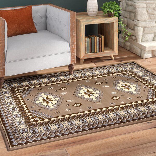 Juana Ash Beige Area Rug by Loon Peak