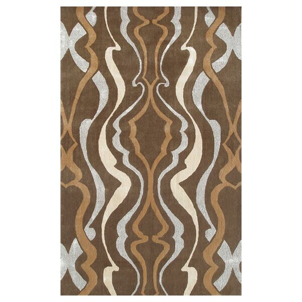Lafayette Hand-Tufted Brown/Tan Area Rug by Threadbind