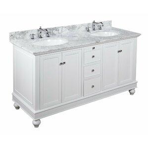 double sink white vanity. Bella 60  Double Bathroom Vanity Set Vanities You ll Love Wayfair