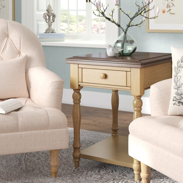 Zipporah Solid Wood End Table With Storage By Astoria Grand