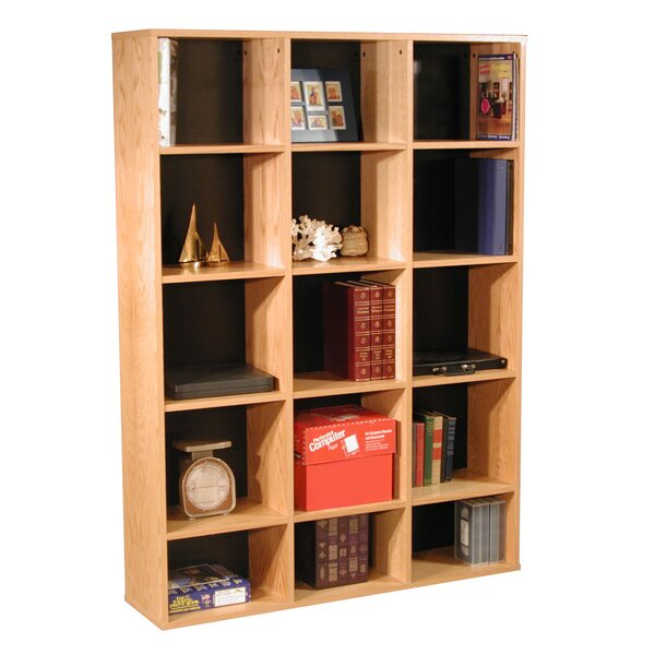 Modular Real Oak Wood Veneer Furniture Cube Unit Bookcase by Rush Furniture