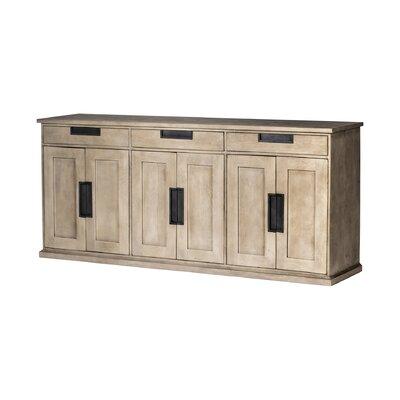 "Gracie Oaks Topps 81.5"" Wide 3 Drawer Mango Wood Sideboard"