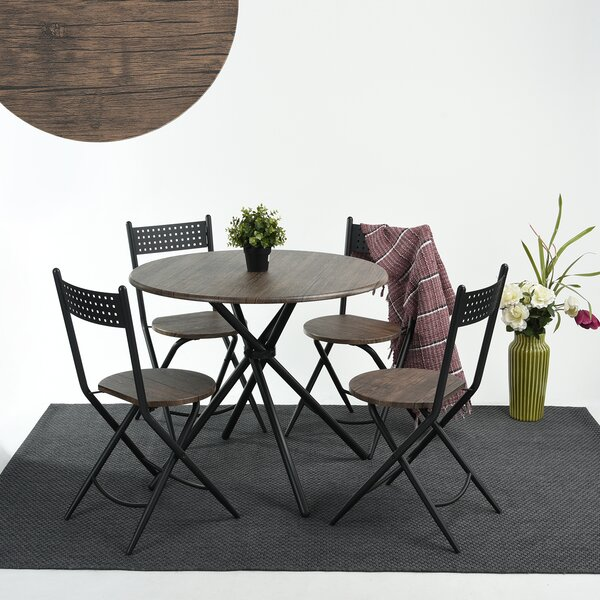 Burdett 5 Piece Dining Set by Wrought Studio