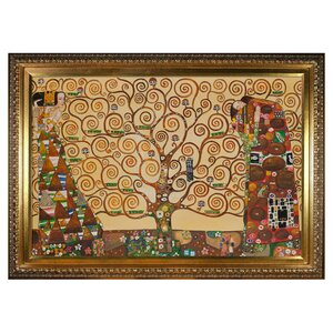 The Tree of Life' Reproduction by Klimt Framed Painting by Tori Home