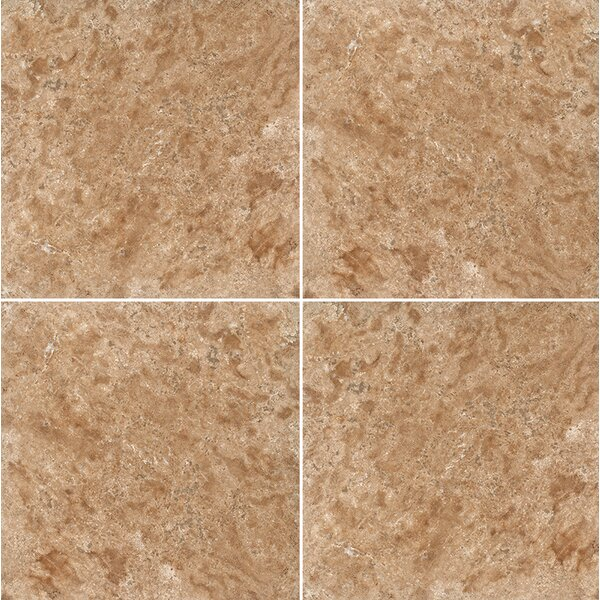 12 x 12 Travertine Field Tile in Light Walnut Honed by Parvatile