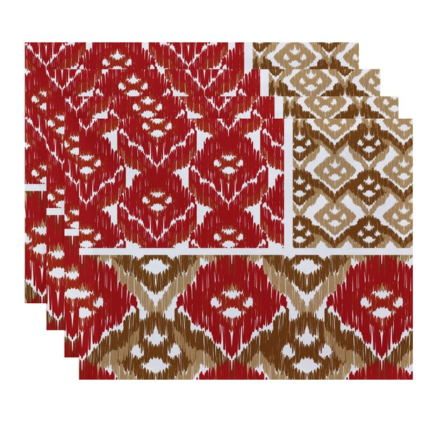 Meetinghouse Free Spirit  Geometric Print Placemat (Set of 4) by Bungalow Rose