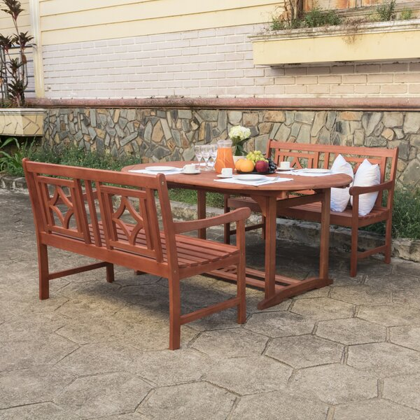 Monterry 3 Piece Patio Dining Set by Beachcrest Home