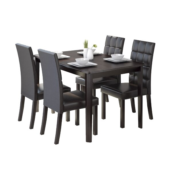 Cesar 5 Piece Dining Set by Latitude Run Latitude Run
