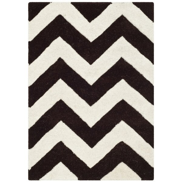 Wilkin Wool Brown/Ivory Area Rug by Wrought Studio