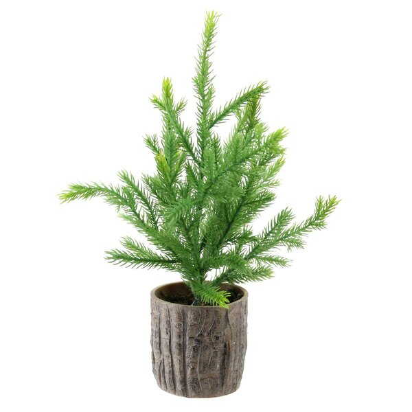 12 Green Artificial Pine Christmas Tree in Wooden Pot by The Holiday Aisle