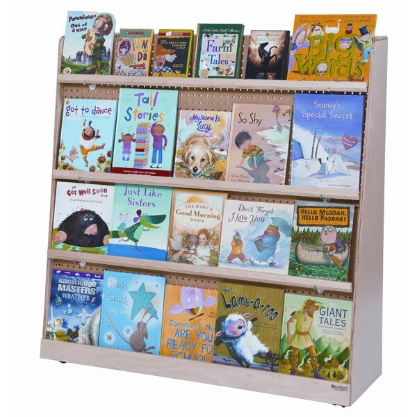 Jumbo Double Sided 8 Compartment Book Display with Casters by Wood Designs
