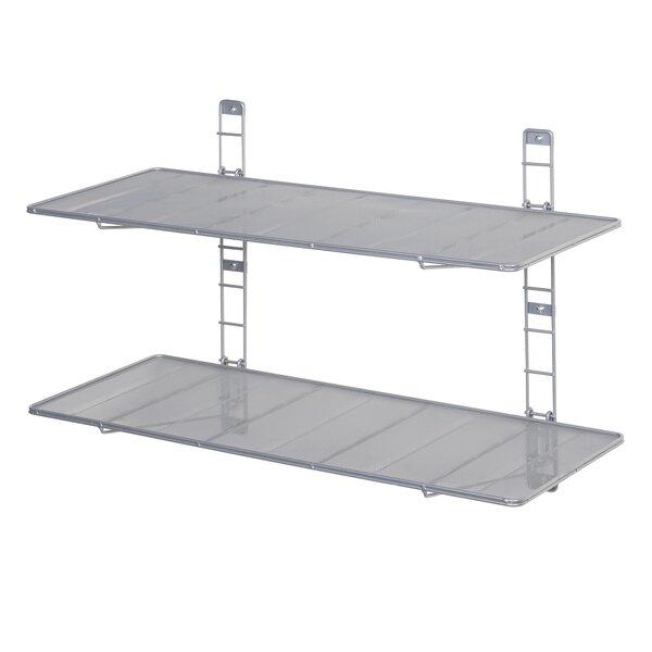 2 Tier Heavy Duty Floating Wall-Mounted Storage Shelf by Seville Classics