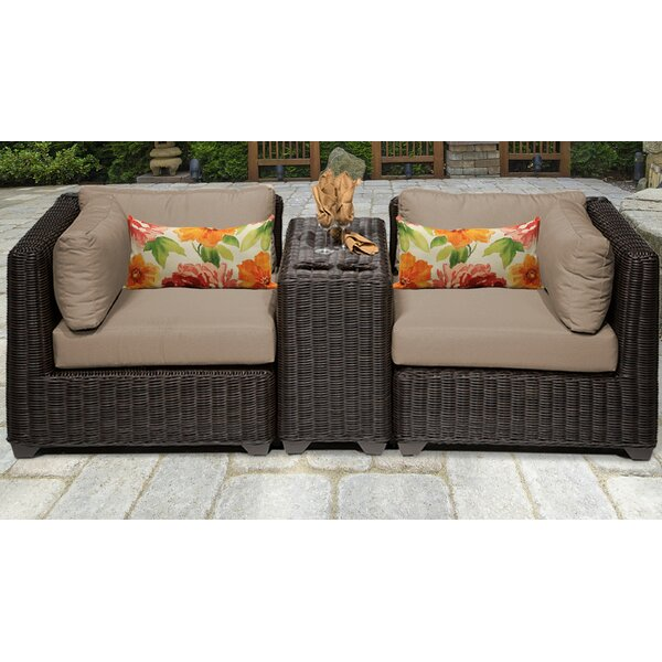 Fairfield Rattan Sofa Seating Group with Cushions by Sol 72 Outdoor