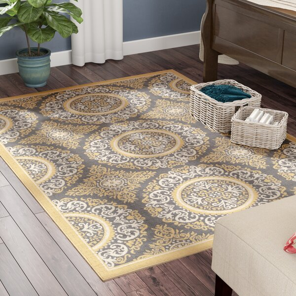 Osage Yellow Indoor/Outdoor Area Rug by Charlton Home