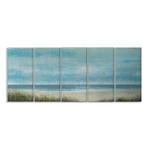 'Outer Banks' Framed Painting Print on Canvas Set by Beachcrest Home