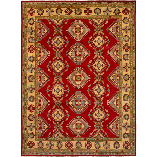 One-of-a-Kind Alarice Hand-Knotted Wool Red Area Rug by Isabelline