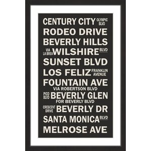 'Famous California' Framed Textual Art by Marmont Hill