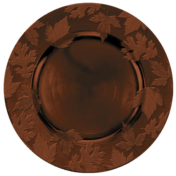 Autumn Embossed Melamine 14 Charger by Amscan