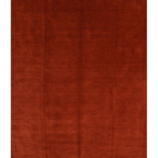 Fortune Oriental Hand-Knotted Wool Red Area Rug by Ebern Designs