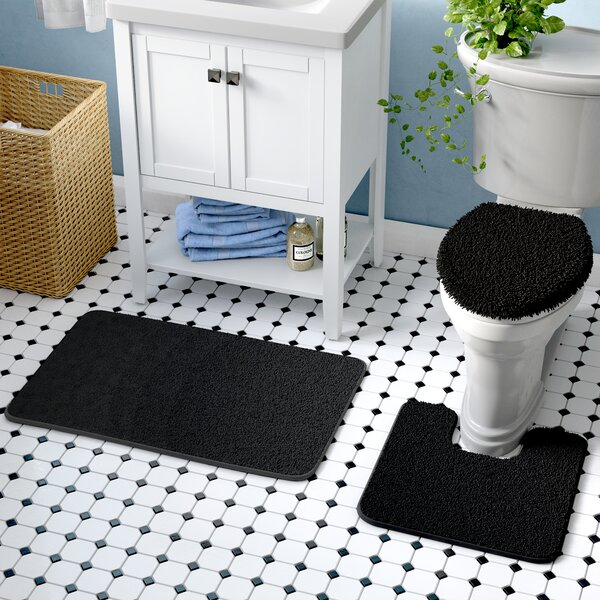 3 Piece Bath Rug Set by Symple Stuff