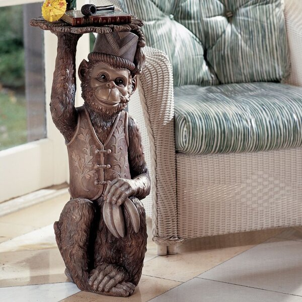 Moroccan Monkey Butler Sculptural End Table by Design Toscano