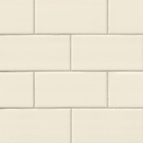 Msi Almond Glossy 3 X 6 Ceramic Subway Tile In Beige Wayfair