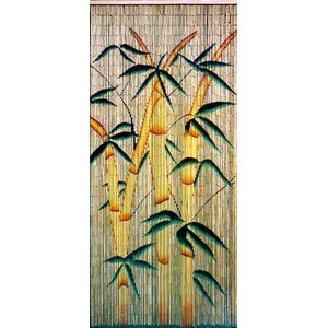 Bamboo Forest Graphic Print & Text Semi-Sheer Single Curtain Panel