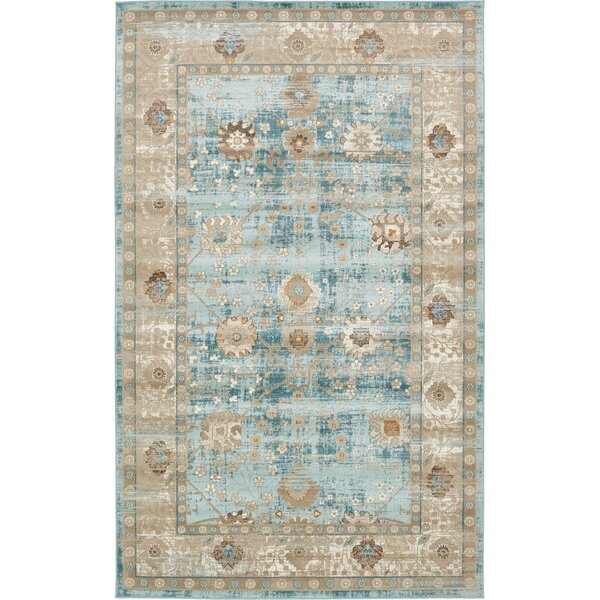 Miara Light Blue Area Rug by World Menagerie