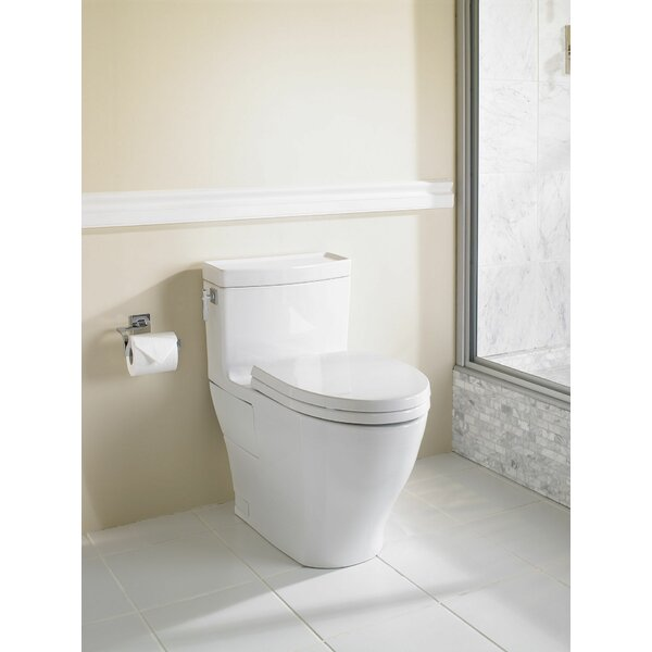 Aimes Universal Height Skirted 1.28 GPF Elongated One-Piece Toilet with CeFiONtect by Toto