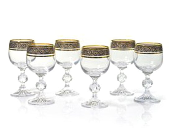 Leech Lead-Free Crystal 6.4 oz. White Wine Glass (Set of 6) by Astoria Grand