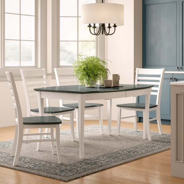 Niels 5 Piece Solid Wood Dining Set by Birch Lane™ Heritage