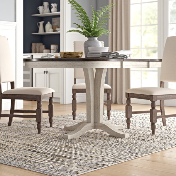 Ridgley Extendable Solid Wood Dining Table by Gracie Oaks Gracie Oaks