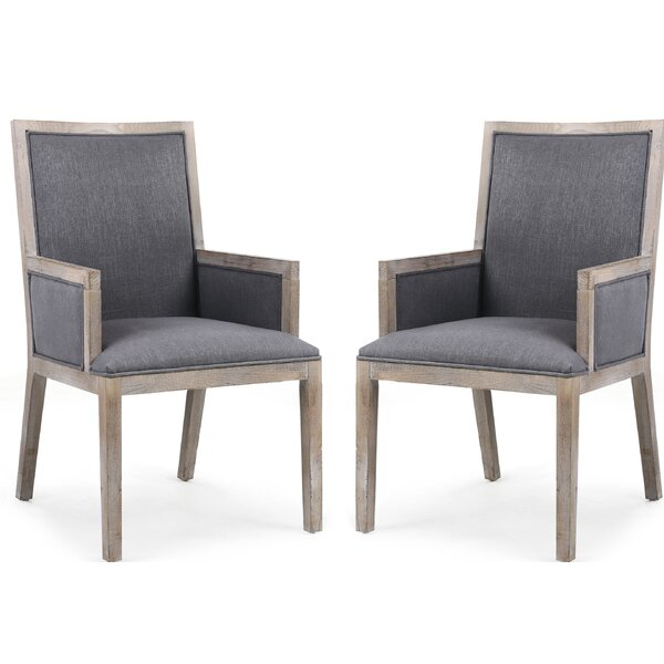 Tobias Upholstered Dining Chair (Set of 2) by Rosecliff Heights