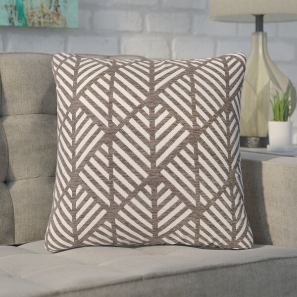 Jase Geometric Design Square Throw Pillow by Langley Street