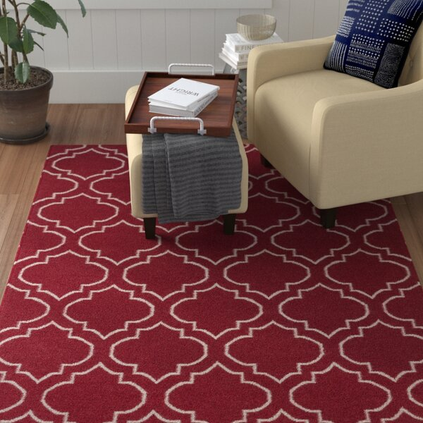 Aylesworth Red Area Rug by Winston Porter