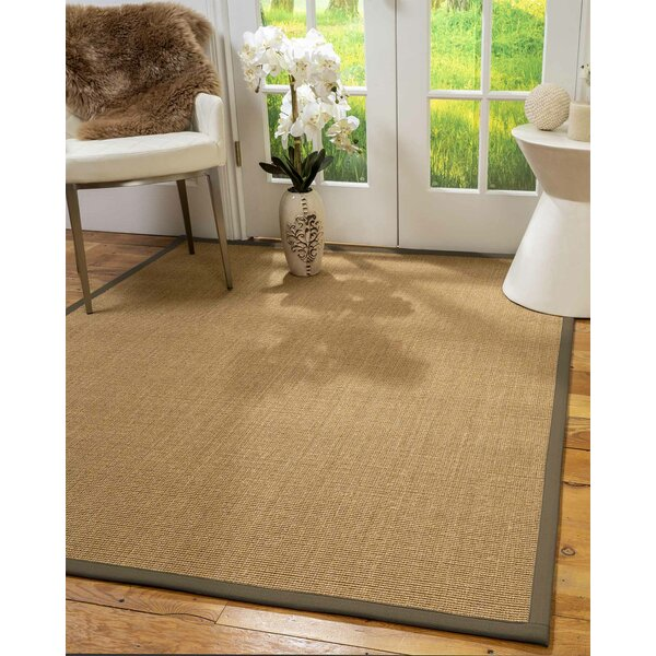 Swanigan Hand-Hooked Light Brown Area Rug