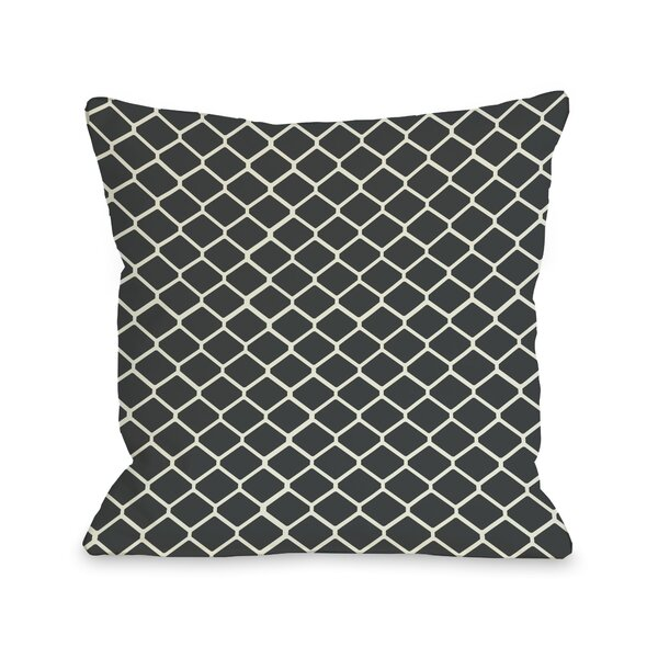 Fence Throw Pillow by One Bella Casa