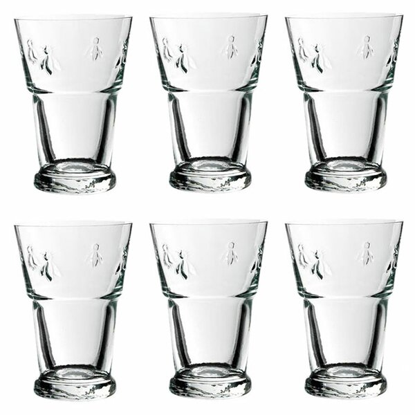 Napoleon Bee 13.5-ounce Beer Glasses (Set of 6) by La Rochere